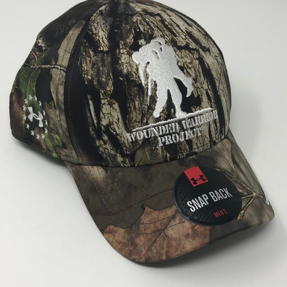 NEW Under Armour Camo Wounded Warrior Project Hat 3cd62fb2d412
